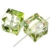 Swarovski Bead 5601 Cube 8mm Luminous Green B Crystal